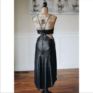 Halston Heritage Dresses - Halston Heritage Black Sleeveless Metallic Dress